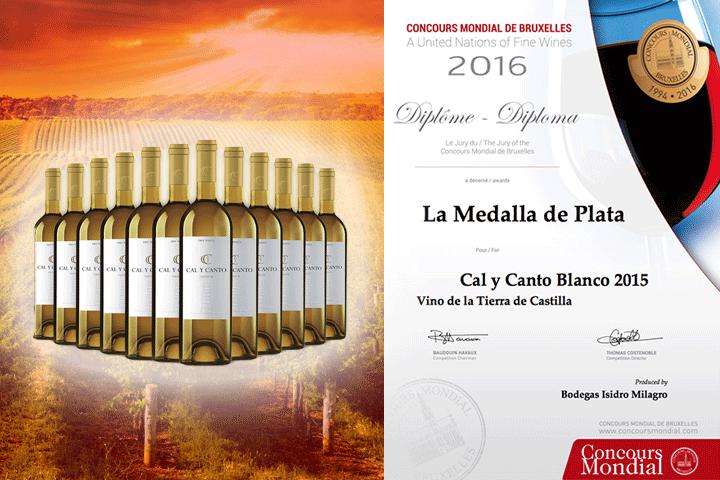 Image of   12 flasker mild og velsmagende CAL Y CANTO hvidvin fra Spanien