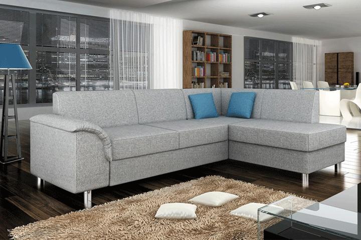 Image of   Flot og behagelig sofa med chaiselong