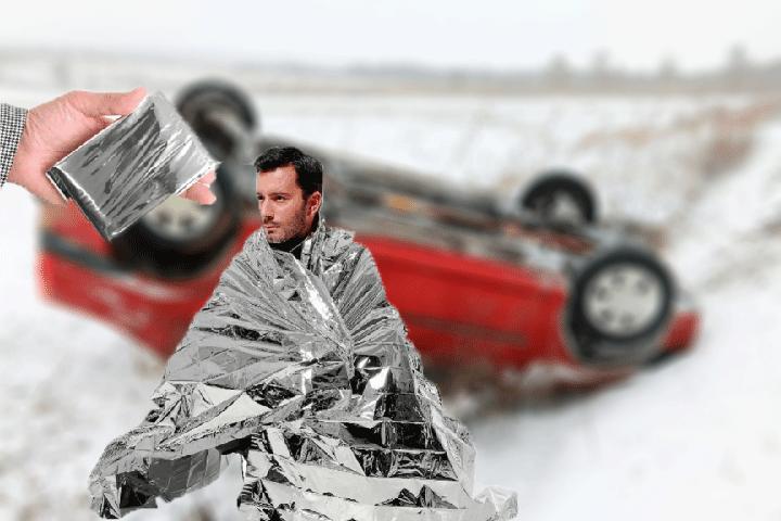 Image of   Hav et alu tæppe liggende i bilen og vær altid beredt, hvis der skulle opstå en nødsituation