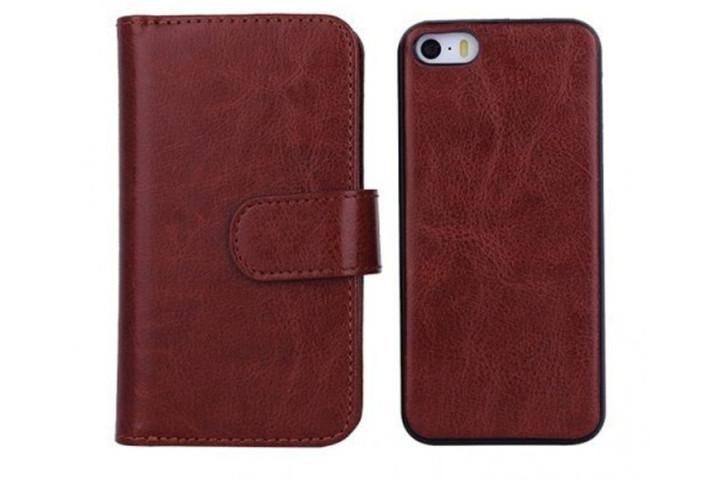 2-i-1 magnetisk PU-lædercover til iPhone og Samsung med plads til kort, sedler og billede4