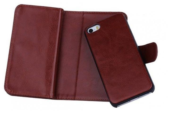 2-i-1 magnetisk PU-lædercover til iPhone og Samsung med plads til kort, sedler og billede7