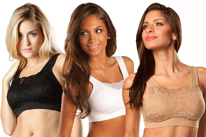 Få 5 stk. fine blonde bh'er i sort, hvid og beige, som både former og giver støtte til dine bryster1