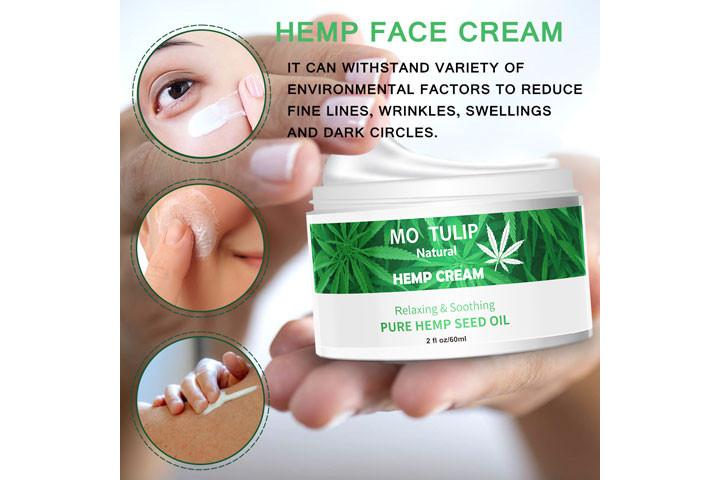 100% Naturlig cannabisoliecreme som fjerner rynker og linjer3
