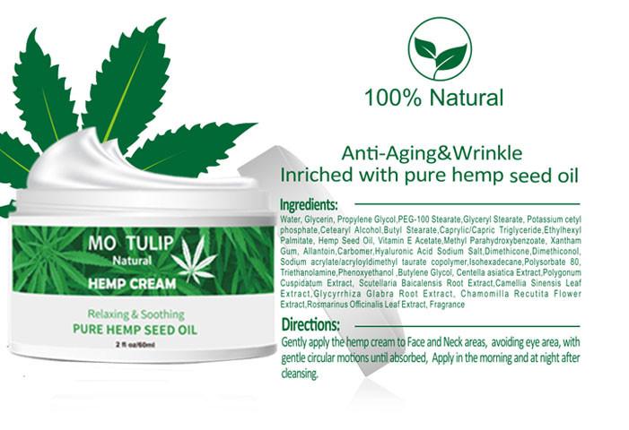 100% Naturlig cannabisoliecreme som fjerner rynker og linjer5
