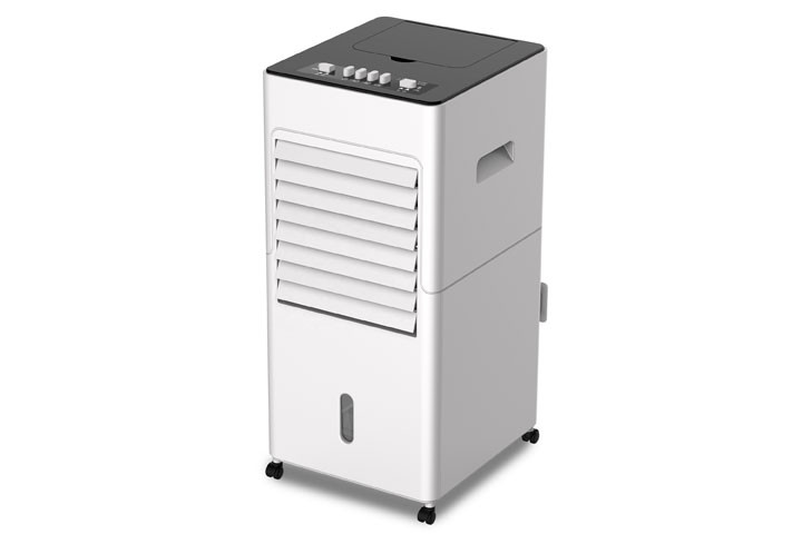 Få varmen eller bliv kølet ned med den multifunktionelle varmeblæser/AirCooler4