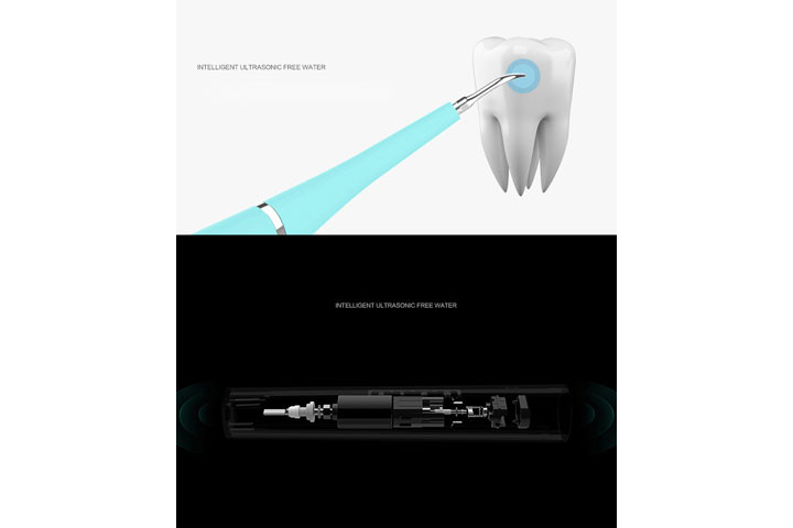 Elektrisk tandrenser som løsner plak, tandsten, bakterier og snavs6