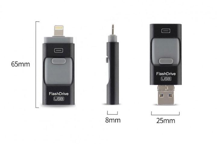 Med det smarte 32 GB flash-drive kan du nemt flytte billeder fra din telefon til din PC4