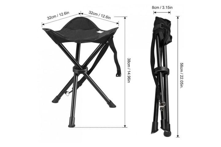 Foldestolen vejer kun 680 gram, og er derfor ualmindeligt nem at transportere6