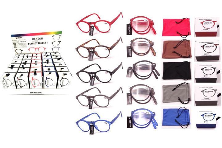 Foldbare læsebriller i farver der matcher de fleste outfit.1