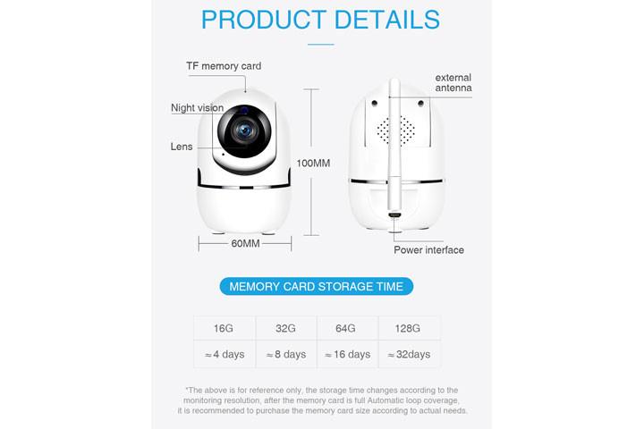 Smart overvågningskamera du kan bruge både inde og ude for at beskytte dit hjem10