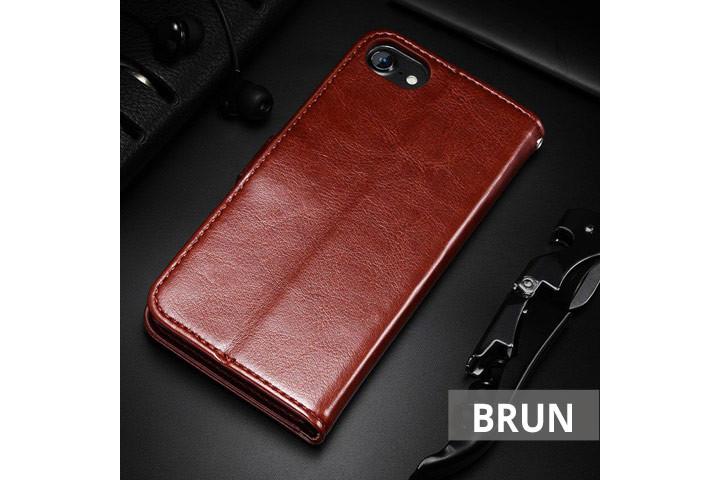 PU lædercover til iPhone eller Samsung med ståfunktion - mobilcover og pung i én5
