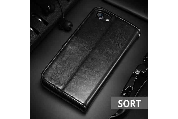 PU lædercover til iPhone eller Samsung med ståfunktion - mobilcover og pung i én4