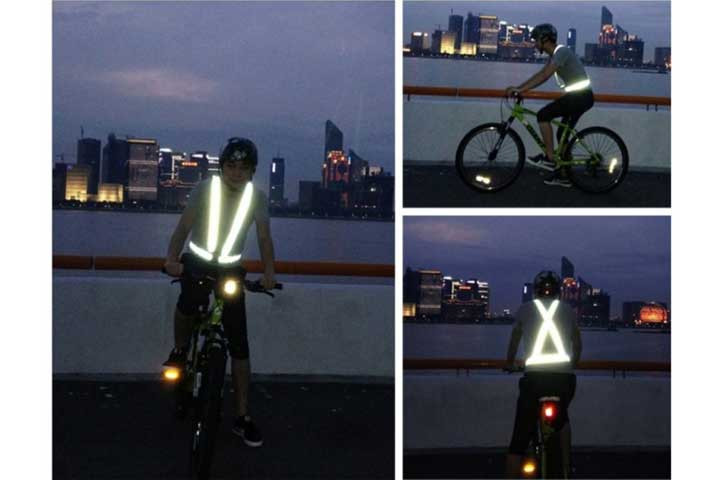 Refleksvest- Selevest med reflekser - sikker i trafikken1
