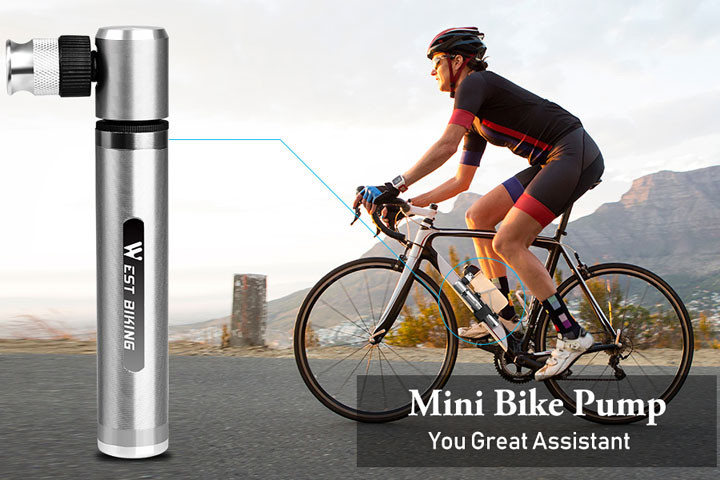 Letvægts cykelpumpen pumper din flade cykel med stor kraft1