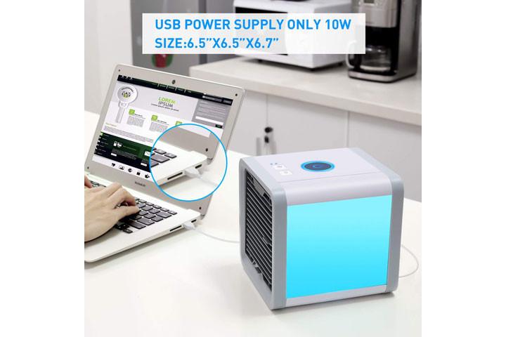Mini Air Cooler, der køler luften ved hjælp af vanddamp1