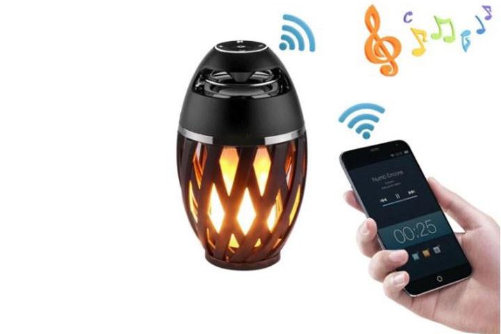 Bluetooth højtaler med flamme-effekter3