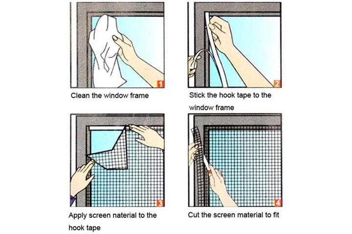 2 stk. myggenet til vinduerne der nemt påføres med det medfølgende velcrobånd4
