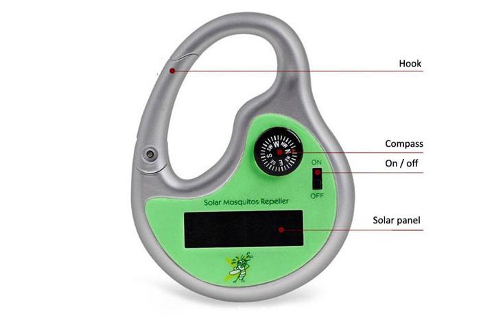Myggeskræmmer med solceller og kompas 3