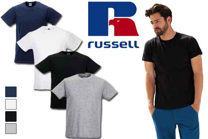 Herre t-shirts fra Russell - vælg mellem 5 eller 10 stk.1