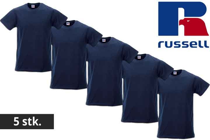 Herre t-shirts fra Russell - vælg mellem 5 eller 10 stk.2