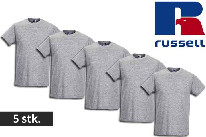 Herre t-shirts fra Russell - vælg mellem 5 eller 10 stk.3