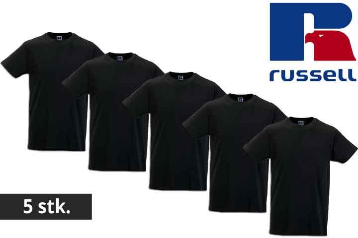 Herre t-shirts fra Russell - vælg mellem 5 eller 10 stk.4