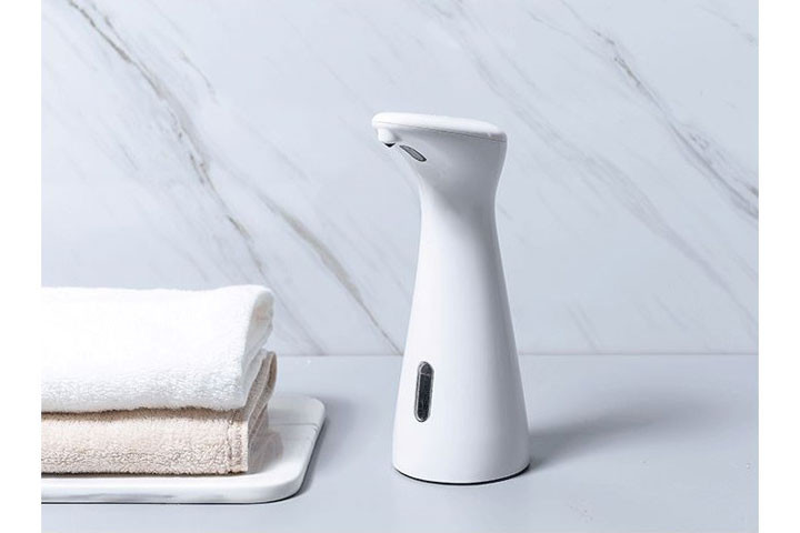 Sæbedispenser med sensor- ingen smittefare og bakterier3