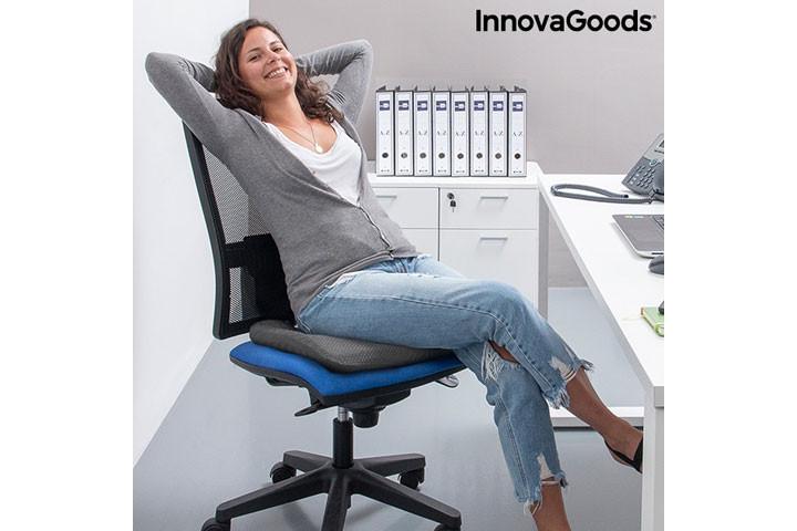 Siddemåtten i gele har et ergonomisk korrekt design og passer til de fleste stole1