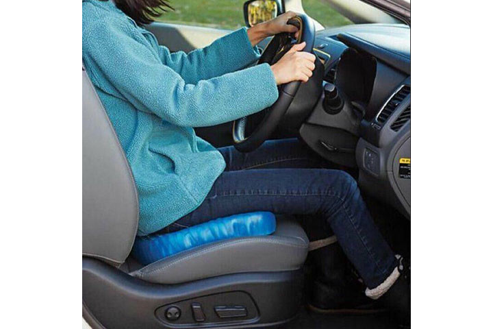 Siddemåtten i gele har et ergonomisk korrekt design og passer til de fleste stole2