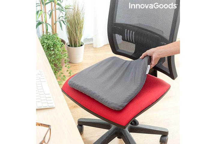 Siddemåtten i gele har et ergonomisk korrekt design og passer til de fleste stole6