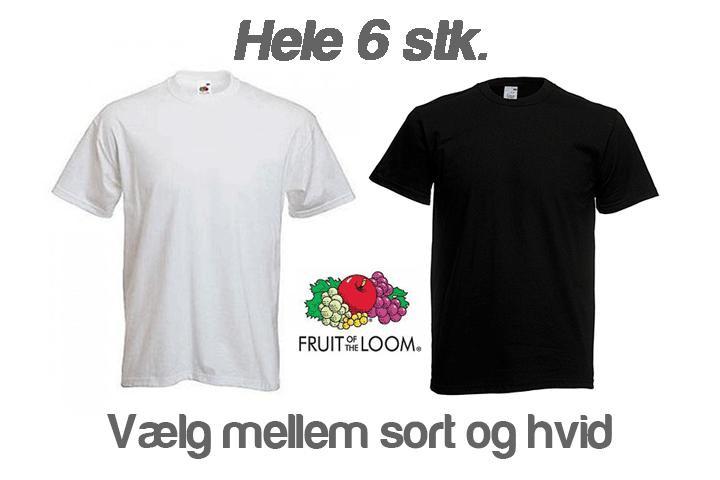 Fyld garderoben med 6 stk. kvalitets T-shirts fra Fruit of the Loom3