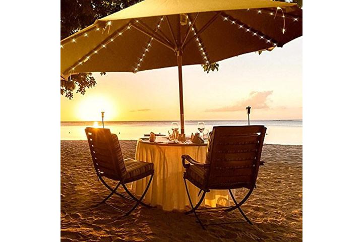 Lyskæden oplades på solens varme stråler og er rigtig god til udendørs brug3