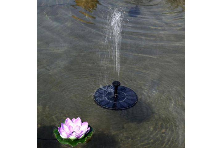Solcelle springvand, som pynter og giver hygge2