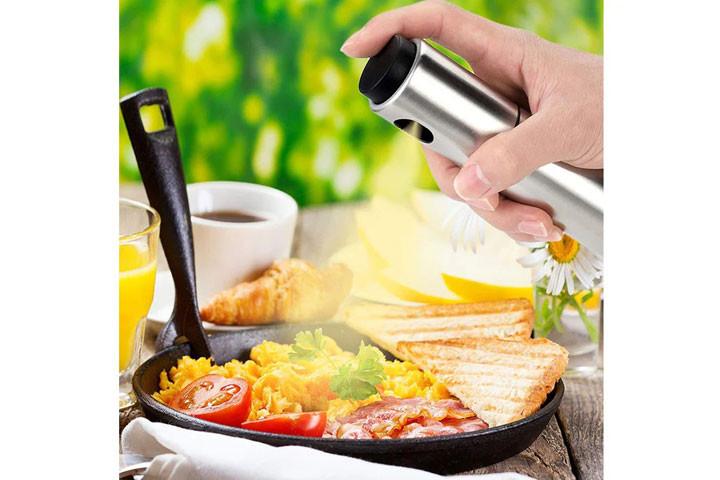 Sprayflaske i rustfrit stål, der gør madlavning og grill endnu sjovere3