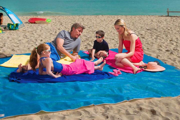 Sandfrit - Strandtæppe med dual layer mesh teknologi 1