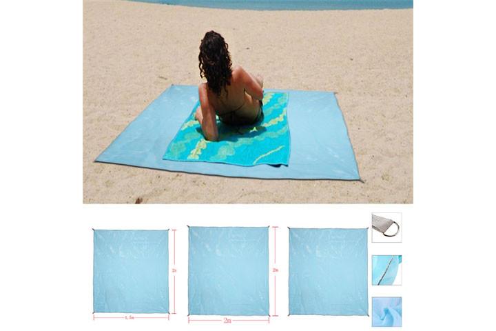 Sandfrit - Strandtæppe med dual layer mesh teknologi 10