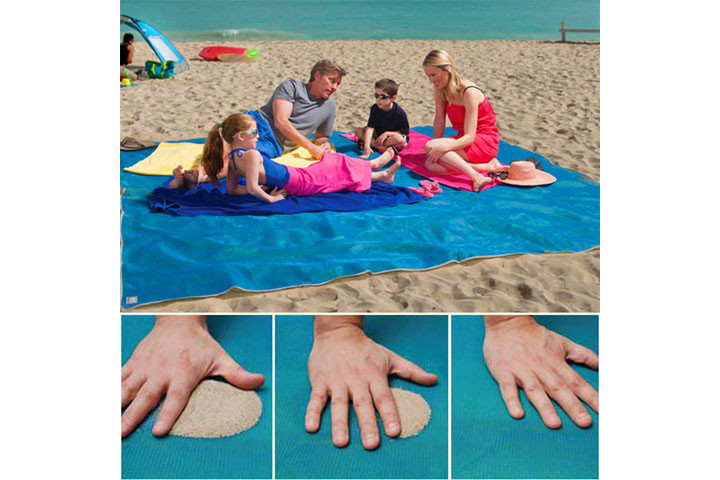 Sandfrit - Strandtæppe med dual layer mesh teknologi 8