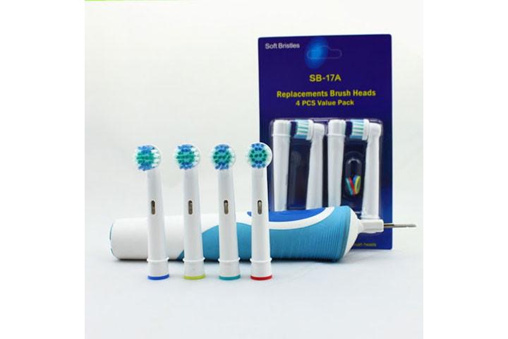 8 stk. tandbørstehoveder der er kompatible med langt de fleste el-tandbørster på markedet8