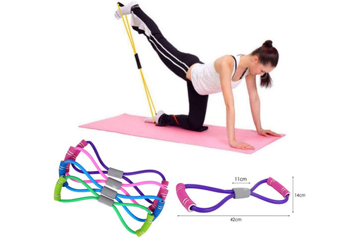 Træningselastikkerne har smarte håndtag, der udfordrer og styrker hele din krop.4