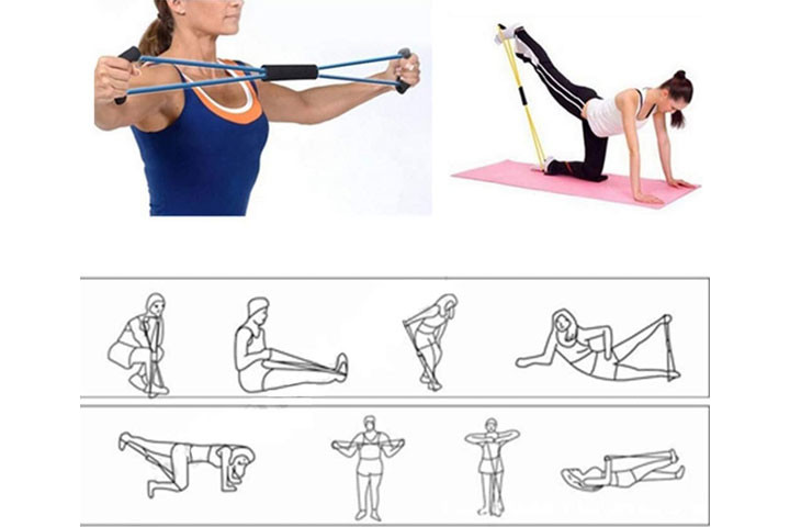 Træningselastikkerne har smarte håndtag, der udfordrer og styrker hele din krop.8