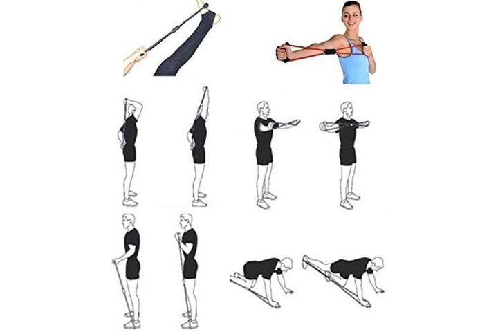 Træningselastikkerne har smarte håndtag, der udfordrer og styrker hele din krop.3