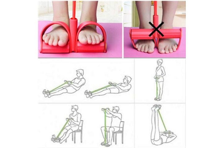 Træningselastikken har både håndtag og fodstøtte, der sikrer dig optimalt udbytte af din træning6
