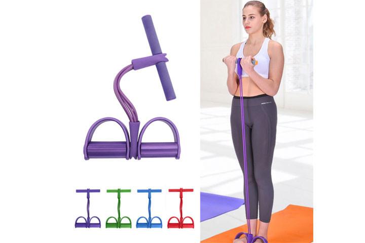 Træningselastikken har både håndtag og fodstøtte, der sikrer dig optimalt udbytte af din træning1