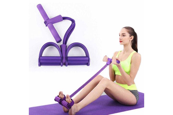 Træningselastikken har både håndtag og fodstøtte, der sikrer dig optimalt udbytte af din træning2