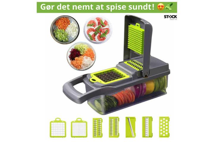 Du kan nemt snitte og skære grøntsager og frugt på mange måder med grøntsagssnitteren1