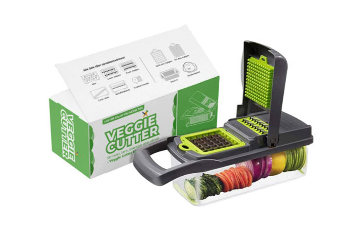 Du kan nemt snitte og skære grøntsager og frugt på mange måder med grøntsagssnitteren2
