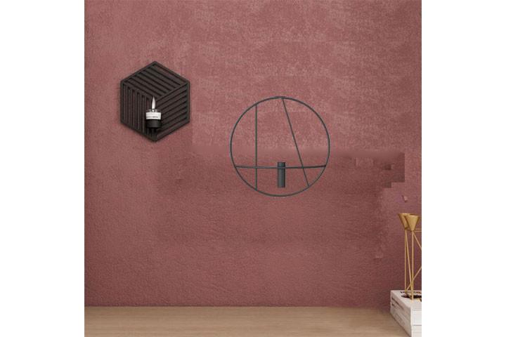 Væghængte lysestager som giver et klassisk udtryk i hjemmet7