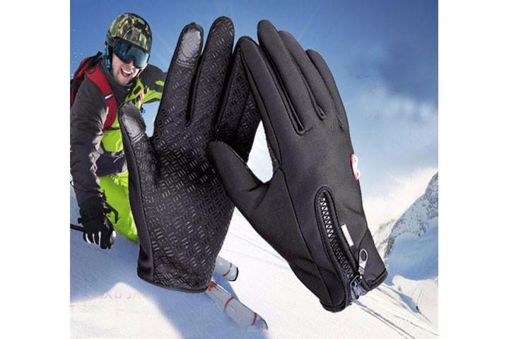 Smarte vind- og vandtætte handsker med touch og anti-skred, så du nemt kan holde ting i hånden1