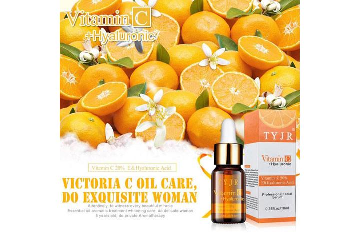Reducere rynker og giv mere glans med C-vitamin serum med det populære hyaluronsyre6