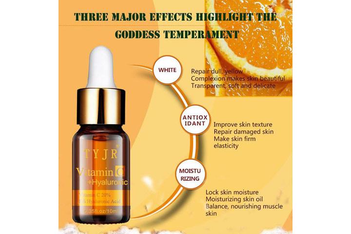 Reducere rynker og giv mere glans med C-vitamin serum med det populære hyaluronsyre3
